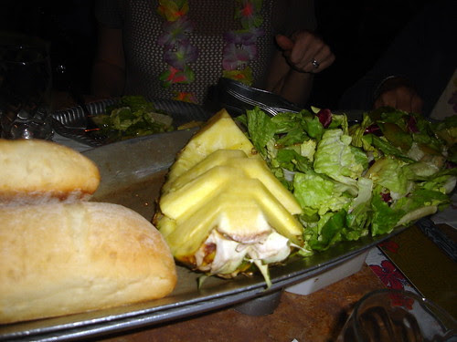 Pineapple-Concut Bread, Salad with Mango Dressing