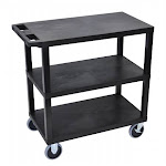 Luxor EC222HD-B Luxor Three Shelf Utility Cart