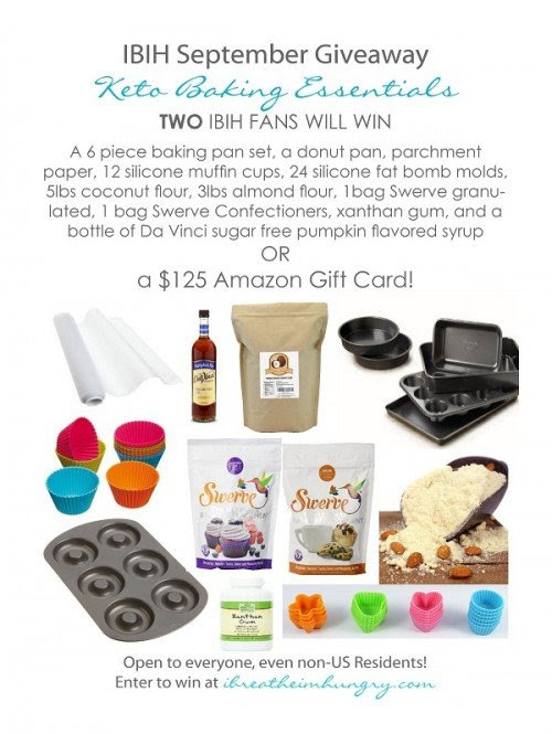 September Keto Baking Essentials Giveaway - I Breathe... I'm Hungry...