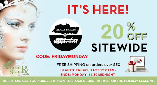 Sale of the Year! Black Friday/Cyber Monday 20% OFF SITEWIDE
