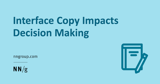 Interface Copy Impacts Decision Making