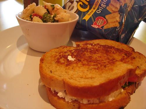Zoe's Grilled Feta Sandwich