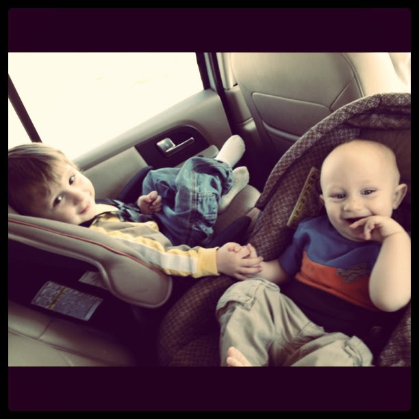 Unscripted Sweetness - brothers holding hands #mademyday #incourage #love