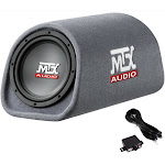 """MTX AUDIO RT8PT 8"""" 240W Car Loaded Subwoofer Enclosure Amplified Tube Box Vented by VM Express"""