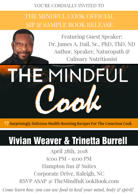The Mindful Cook Book Release – Raleigh, NC