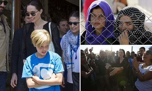 Angelina Jolie visits Syrian refugees with daughter Shiloh Jolie-Pitt