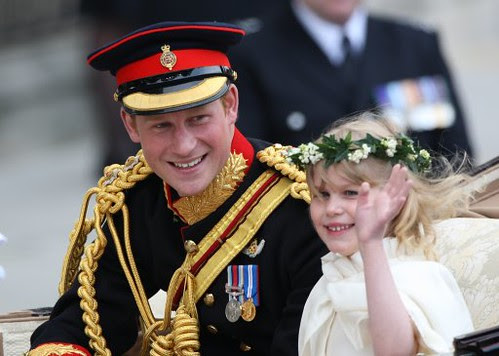 Prince Harry and The Lady Louise Mountbatten-Windsor