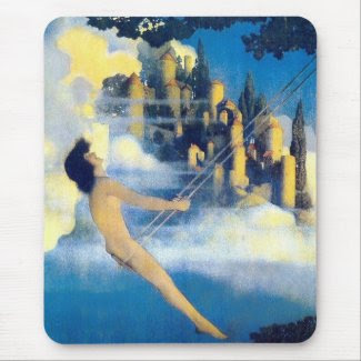 The Dinky Bird, Maxfield Parrish mousepad
