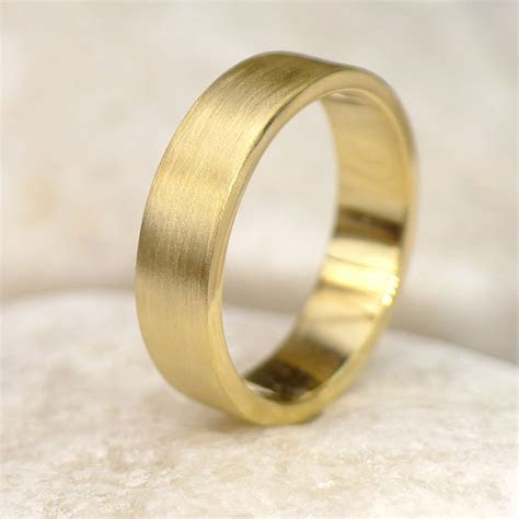 5mm Flat Wedding Ring in 18ct Yellow Gold   Lilia Nash