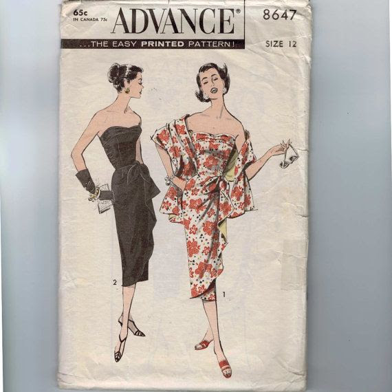 1950s Vintage Sewing Pattern Advance 8647 by historicallypatterns, $95.00