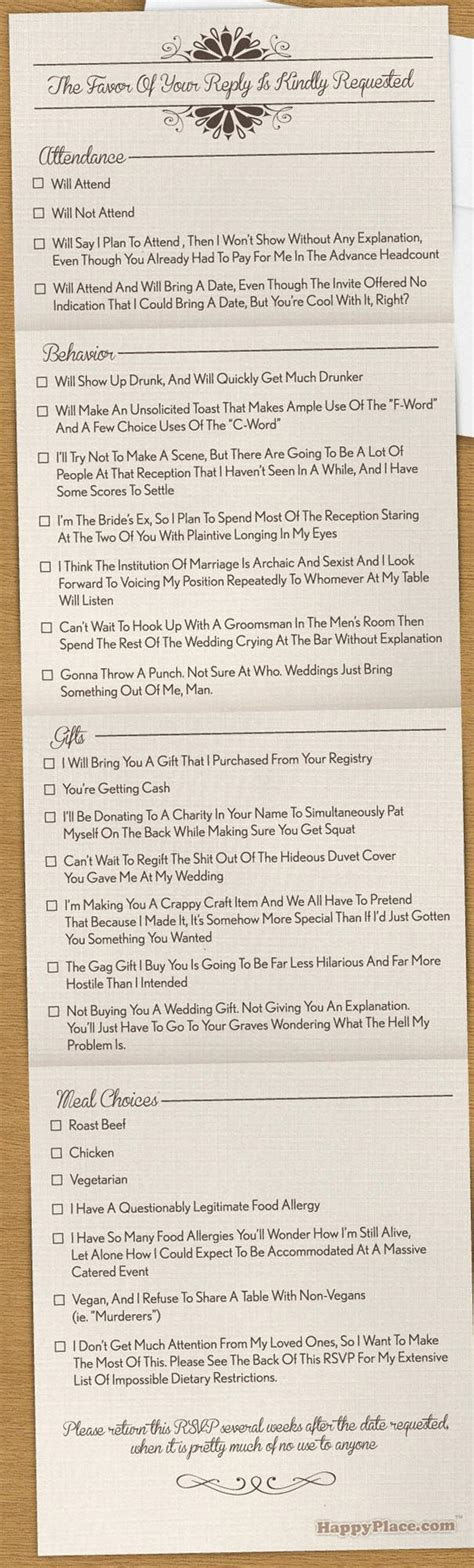 9 Hilarious Wedding Invitations That Simply Can?t Be Ignored