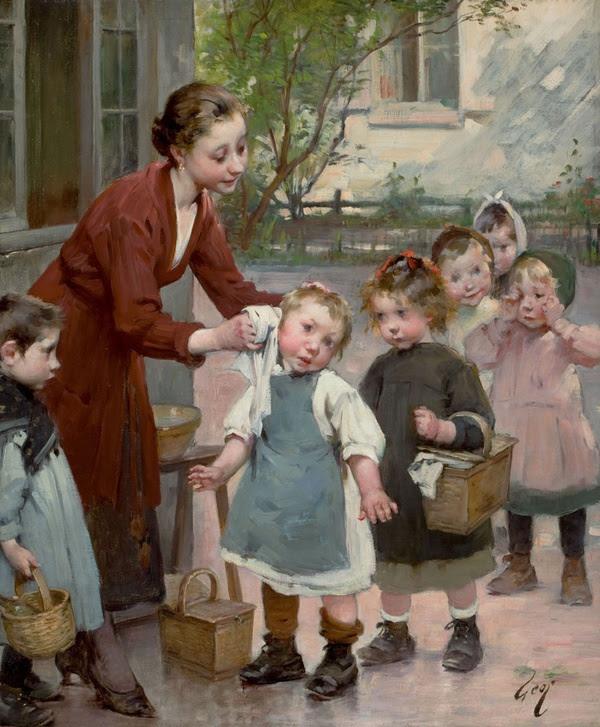 το άγγιγμα της δασκάλας - Henri Jules Jean Geoffroy