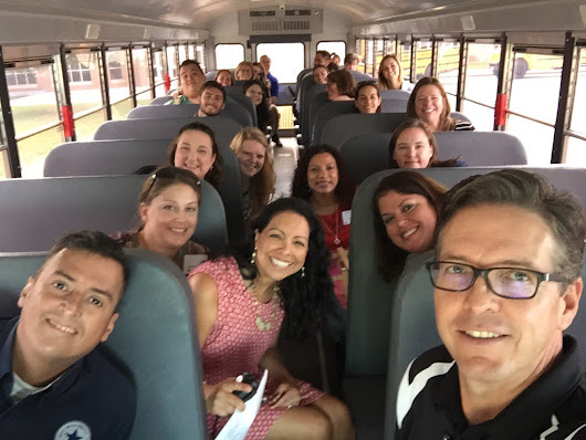 "Greg Gibson on Twitter: ""New Staff taking a bus tour of the district!! Great group of fine educators """