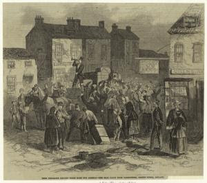 Irish emigrants leaving their ... Digital ID: 833634. New York Public Library