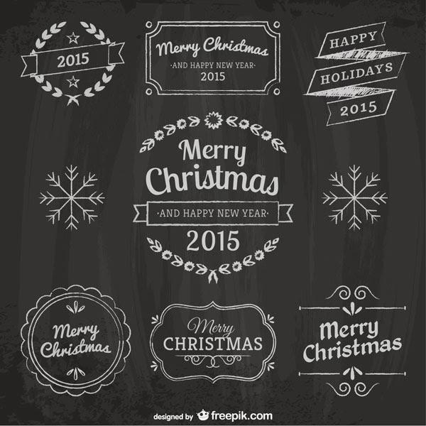 無料素材 飾り枠でデコレーションしたクリスマスのタイトル文字