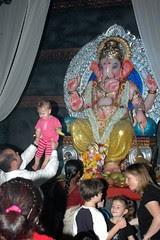 Mackenzie and Lord Ganesha by firoze shakir photographerno1