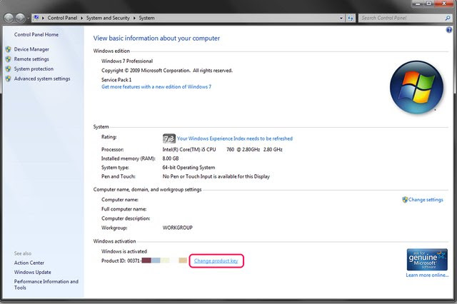 How to Change Windows 7 Product Key (with Pictures) | eHow