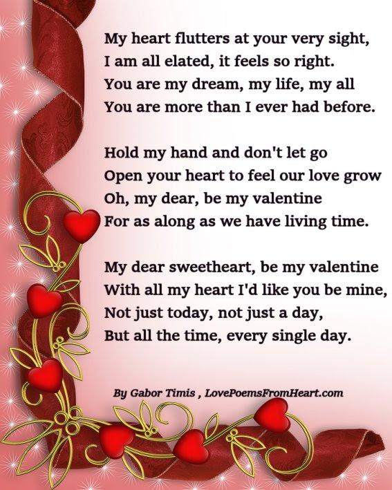 Valentine Poem Be Mine