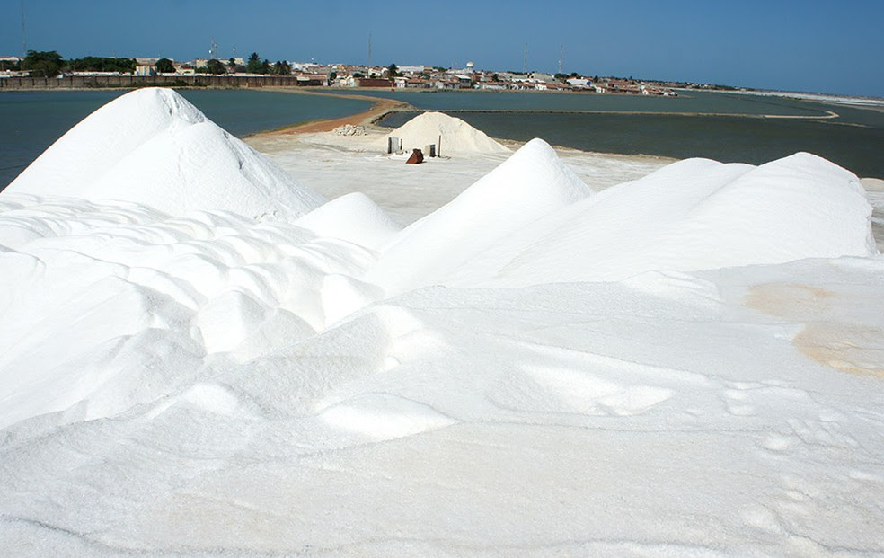 Apesar de aumento de volume, sal teve queda de 14% no valor vendido ao mercado externo (Foto: Anderson Barbosa/G1)