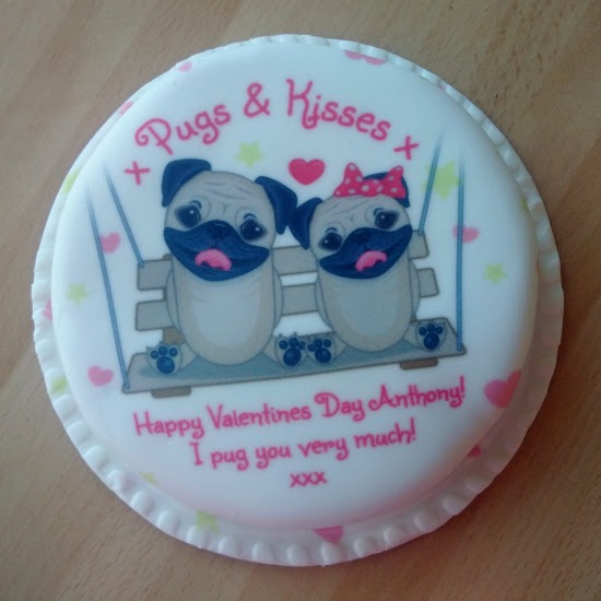 Baker Days Pugs & Kisses Letterbox Cake