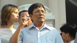 Ông Huỳnh Tấn Mẫm tham gia biểu tình hôm 9/12