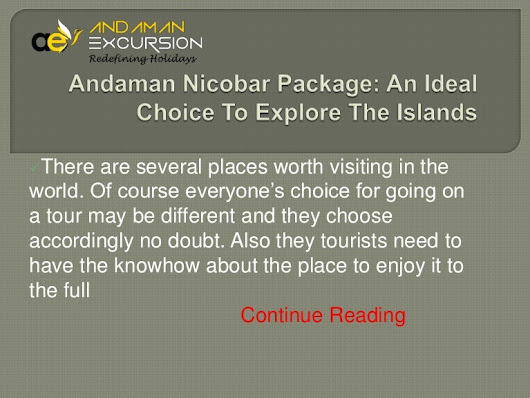 Affordable Andaman nicobar packages