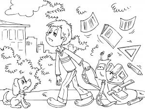 Dibujos De Colegio Para Colorear Paracolorearnet