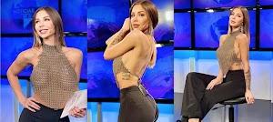 Sem sutiã, apresentadora choca com seios à mostra em telejornal