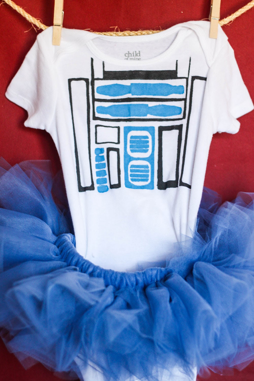 R2D2 inspired Toddler Tutu Costume 24 months