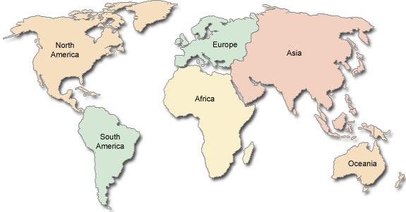 Map Of Europe And America | World Map Gray