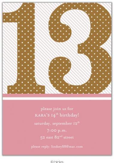 Girl Birthday Invitations   13 Birthday Girl Announcements