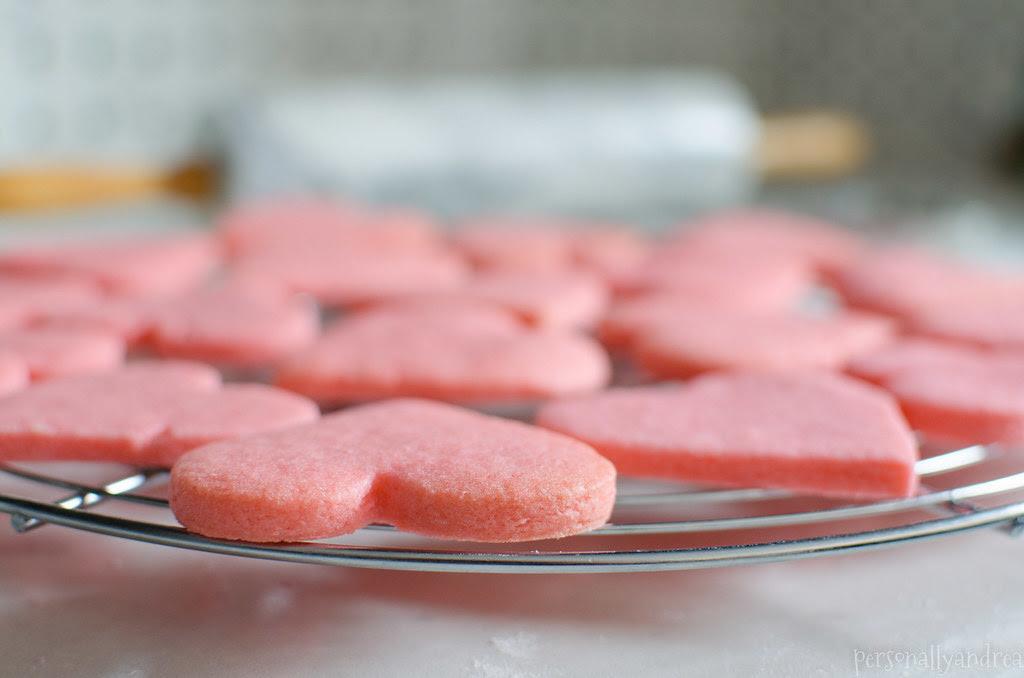 Pink Heart Sugar Cookies | personallyandrea.com