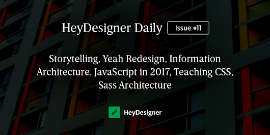 HeyDesigner Daily | Issue #11 — The most interesting design and frontend stories today
