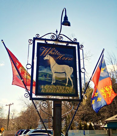 Sign for the White Horse Country Pub & Restaurant, New Preston, CT