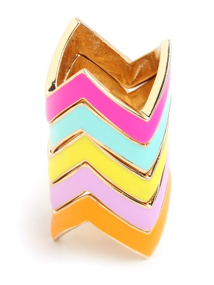 colorful chevron ring stack / baublebar