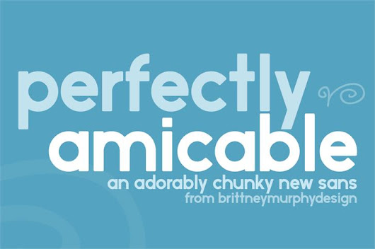 Perfectly amicable font by Brittney Murphy Design - FontSpace