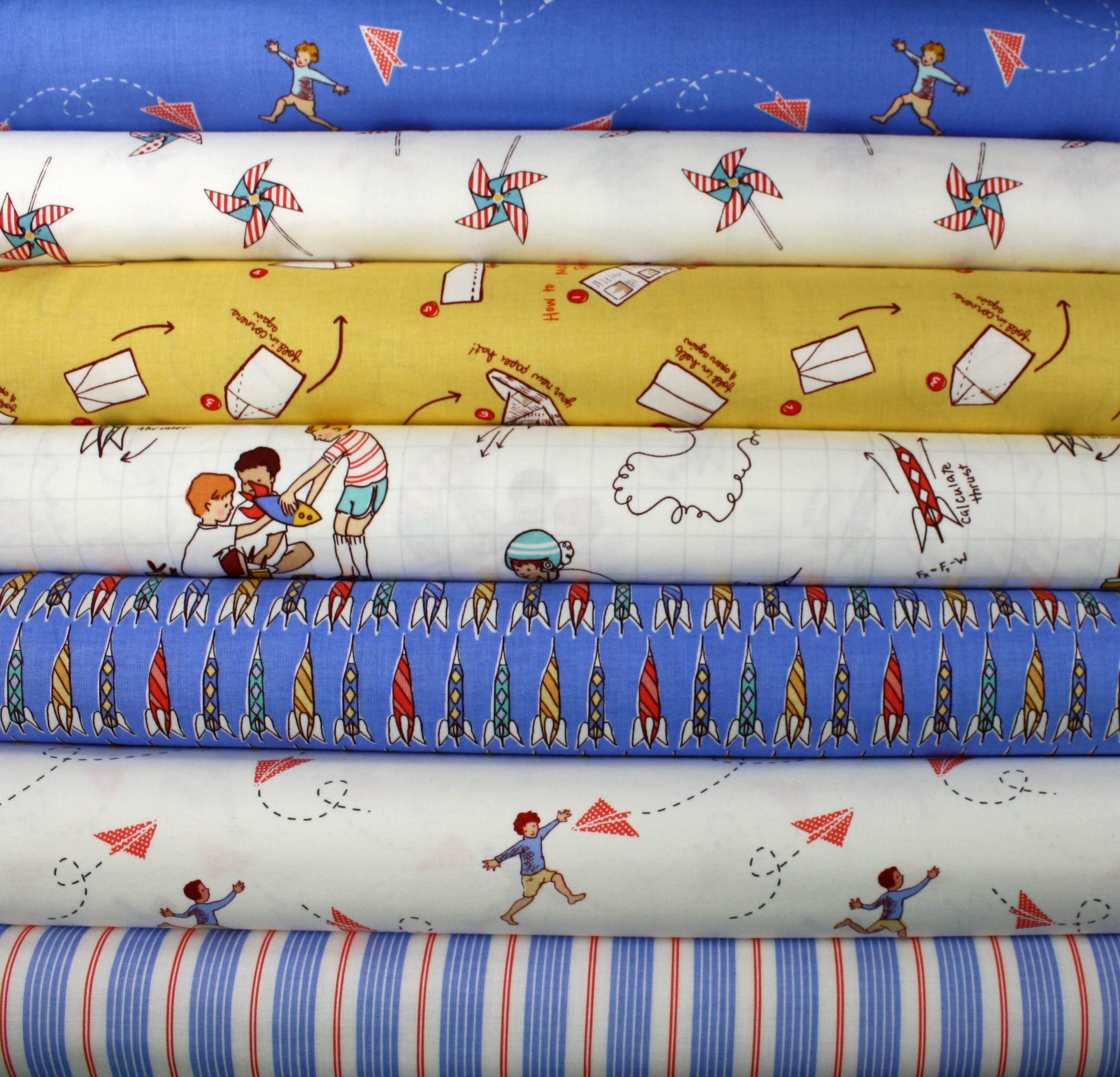 Fabric for Friday's Giveaway -- Sarah Jane's Children at Play Boys 1/2 yd Bundle