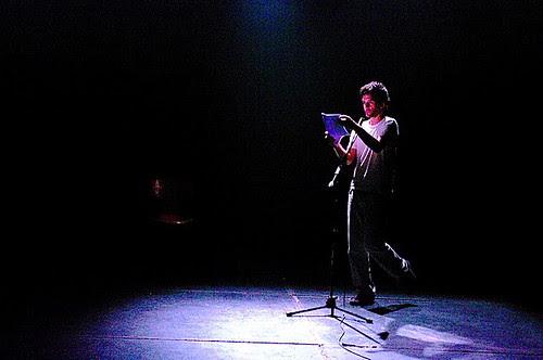Calleja on stage