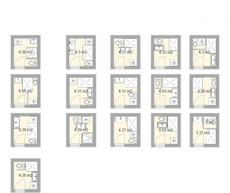 mobilier table plan salle de bain 3m2. Black Bedroom Furniture Sets. Home Design Ideas