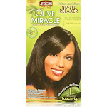 African Pride Olive Miracle Relaxer, No Lye, Deep Conditioning, Regular