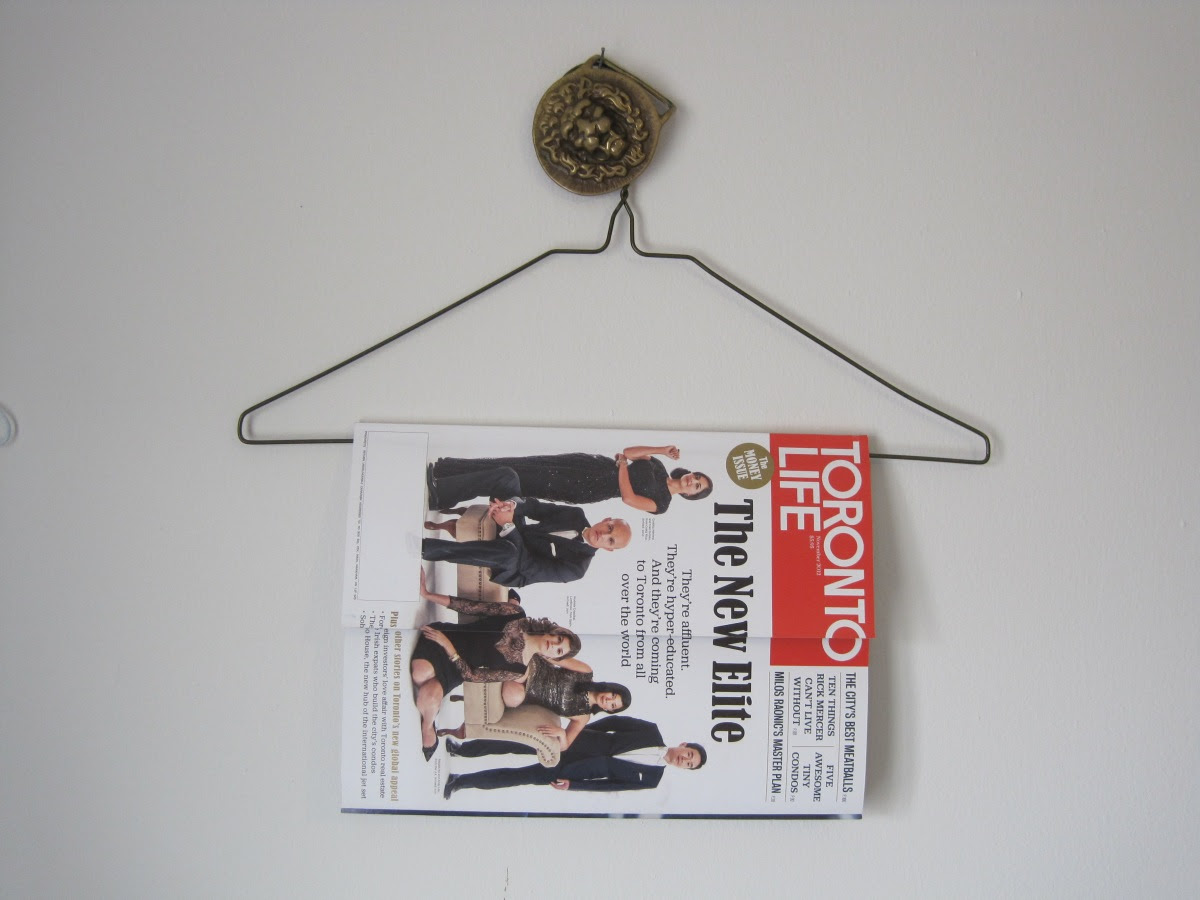 Dress Hanger Magazine Rack