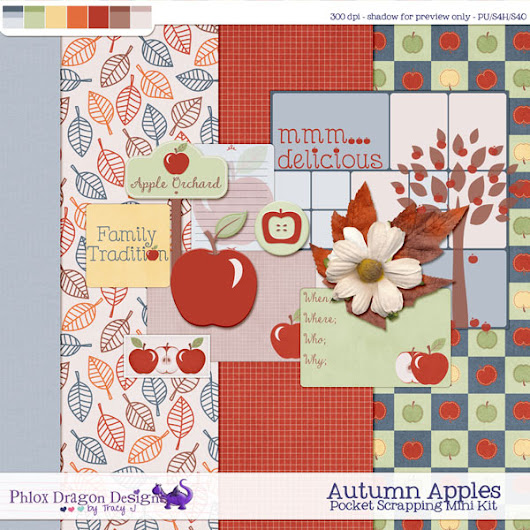 Round 3! NDC at The Studio - Autumn Apples Pocket Scrapping Mini