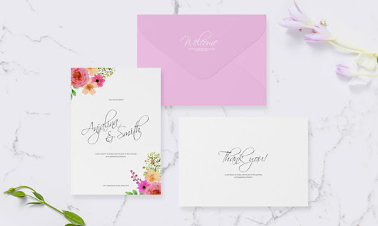 Free Wedding & Greeting Invitation Mockup - Mockup Planet