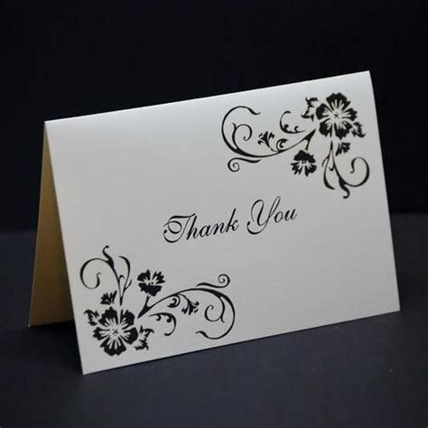 Simple Elegance, wedding thank you card sample, hand