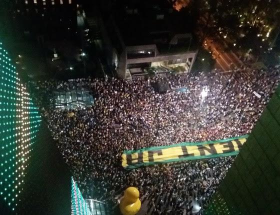 Manifestação na Paulista, 16 de março. (Foto: Graziele Martins/ Epoca)