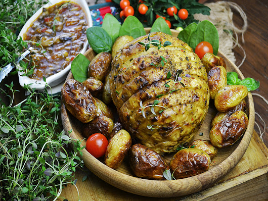 Whole Roasted Celeriac with Herbs, Vegan recipes
