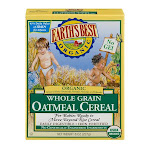 Earth's Best Organic Whole Grain Cereal, Oatmeal - 8 oz box