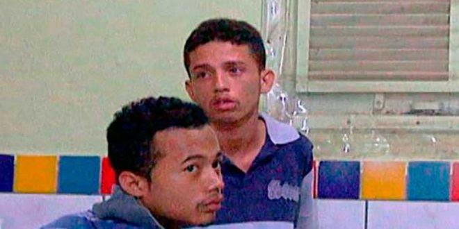 Os irmãos Douglas e David, suspeitos de praticarem arrastões