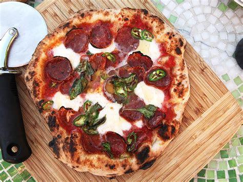 pizza  hot soppressata mozzarella chilies  honey