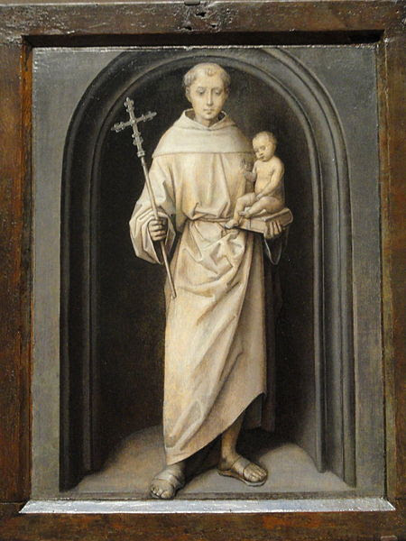 Saint Anthony of Padua by Hans Memling at the Art Institute of Chicago.